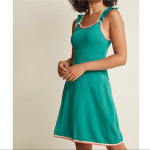 Modcloth Reason to Reminisce Seaglass Knit Dress